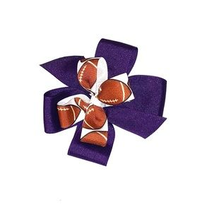 Other - Purple Football Hairbow